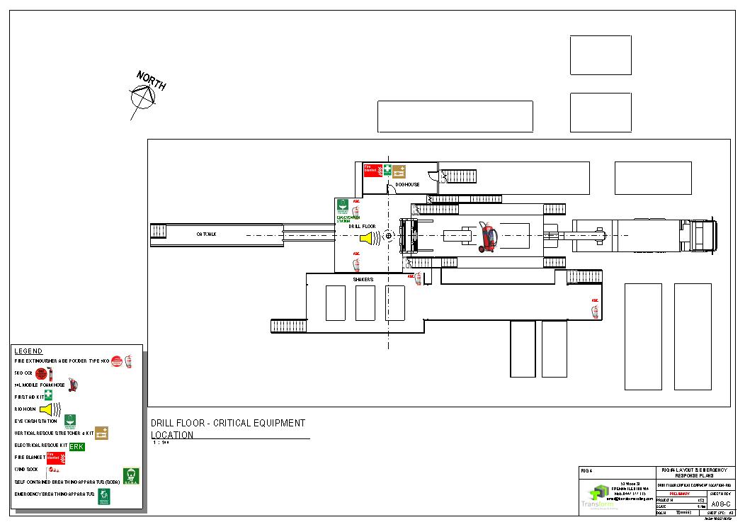 5. Drill Floor Critical Equipment Location