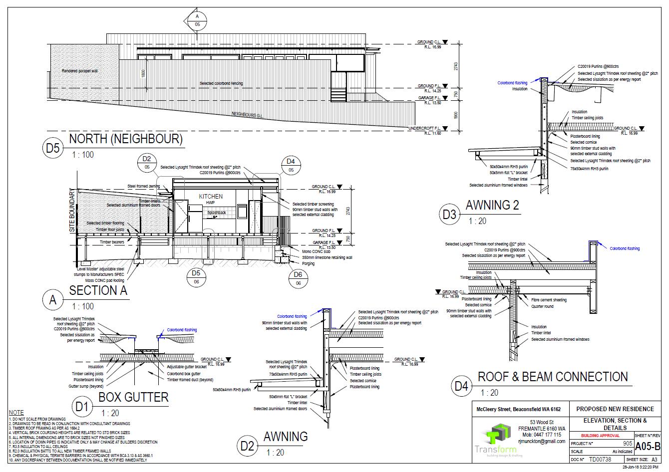 6. Setions Details